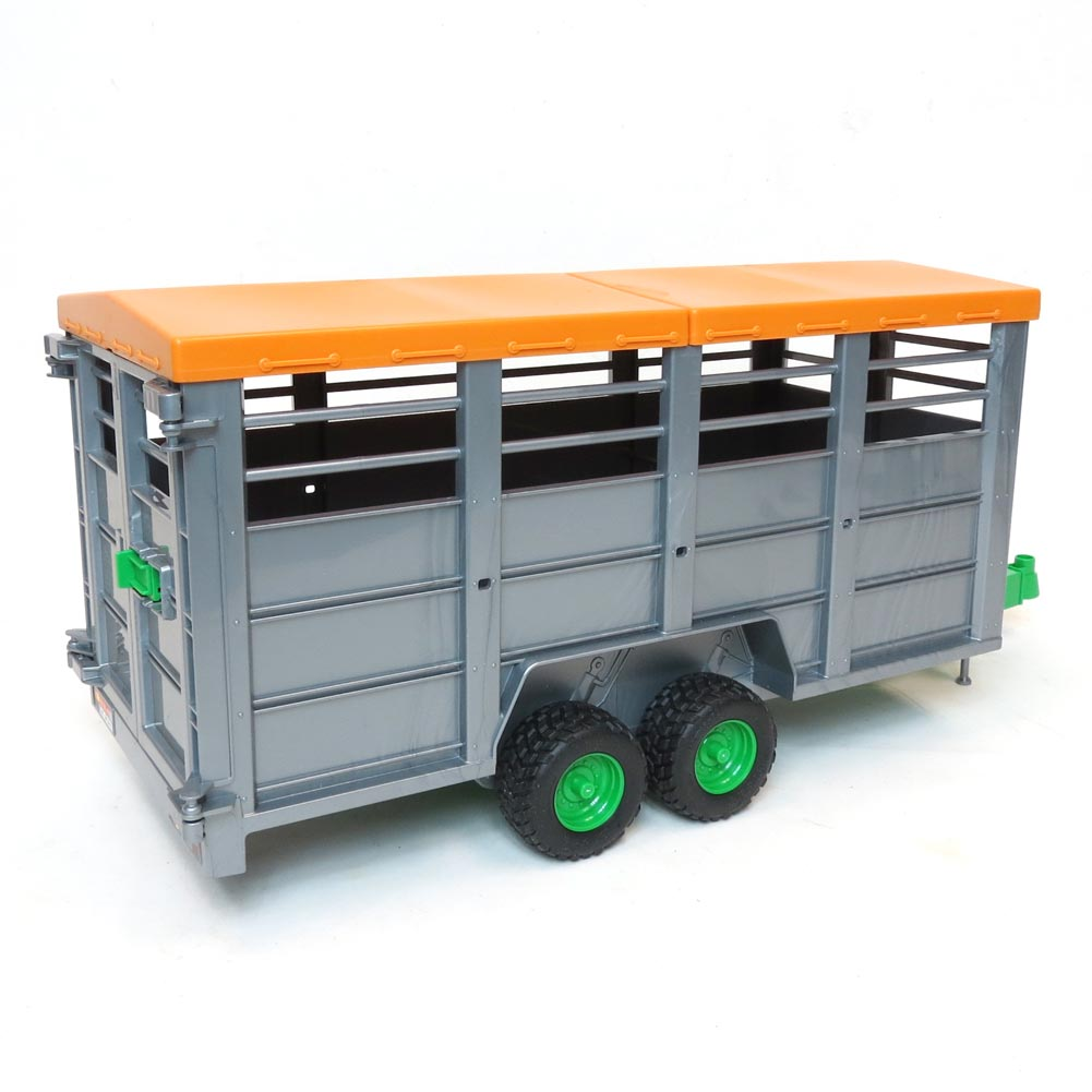 Bruder Livestock Trailer With 1 Cow 02227