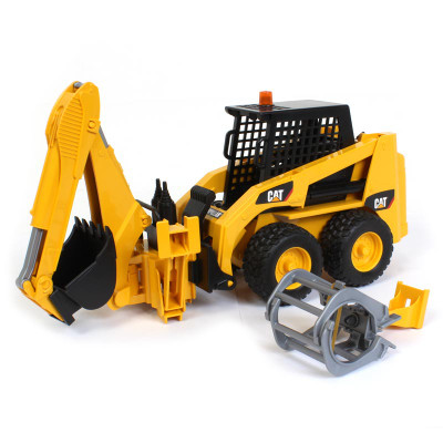 1/16 Cat Skid Steer Loader with Rear Backhoe Attachment