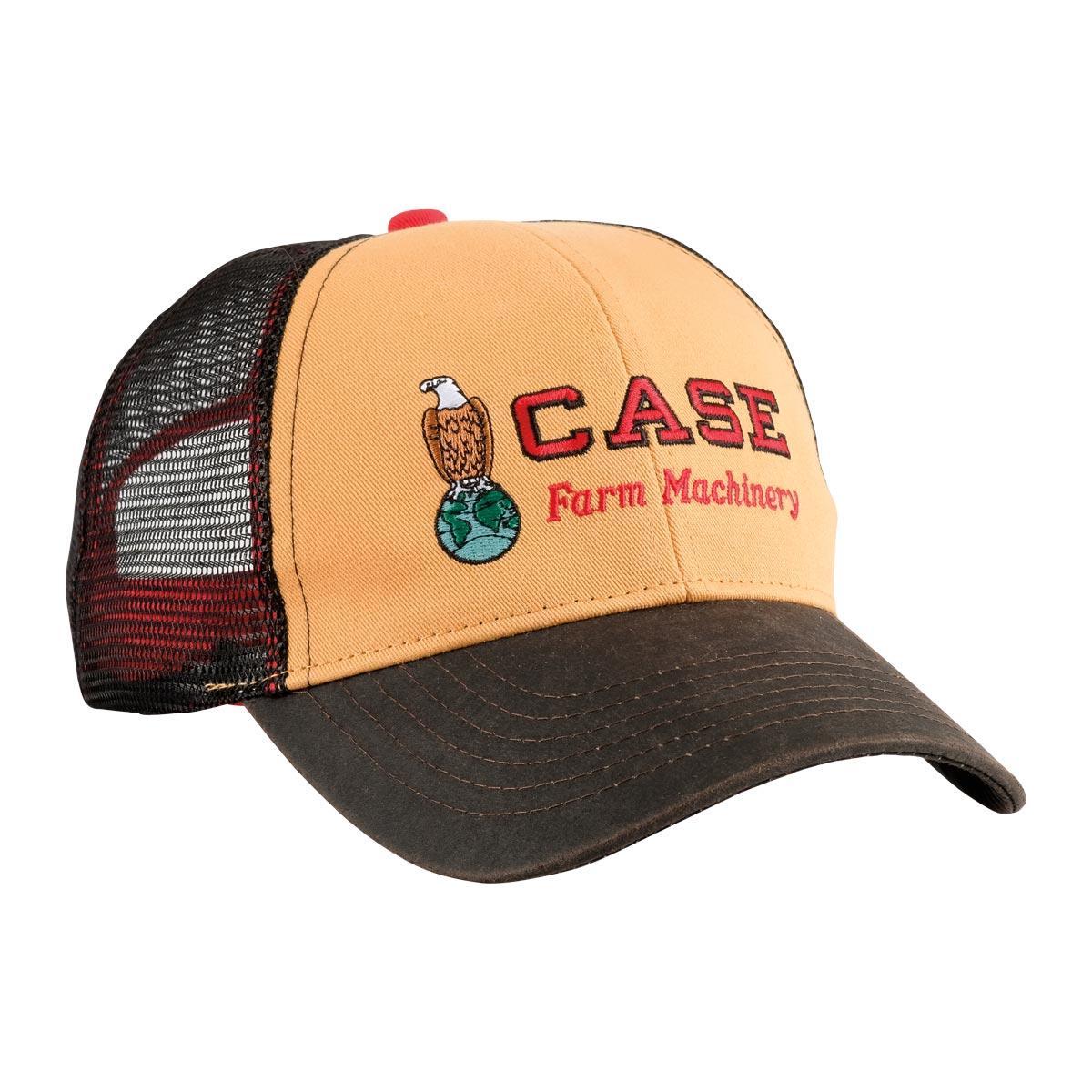 Case Tractor Hat Tire Tread Logo Black Mesh