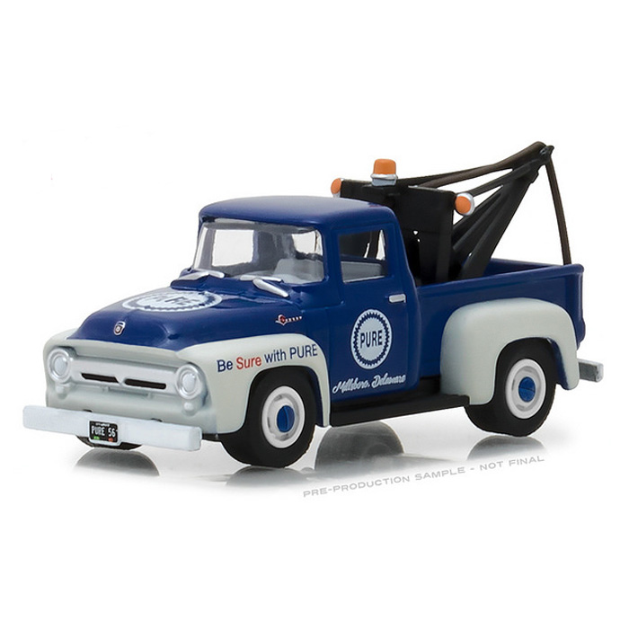 Greenlight Ford F100 1956 with Drop in Tow Hook Caltex 41060 A 1//64