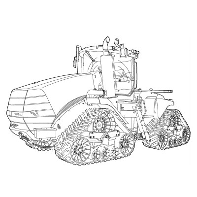 Art of the Tractor Coloring Book with 80 pages.
