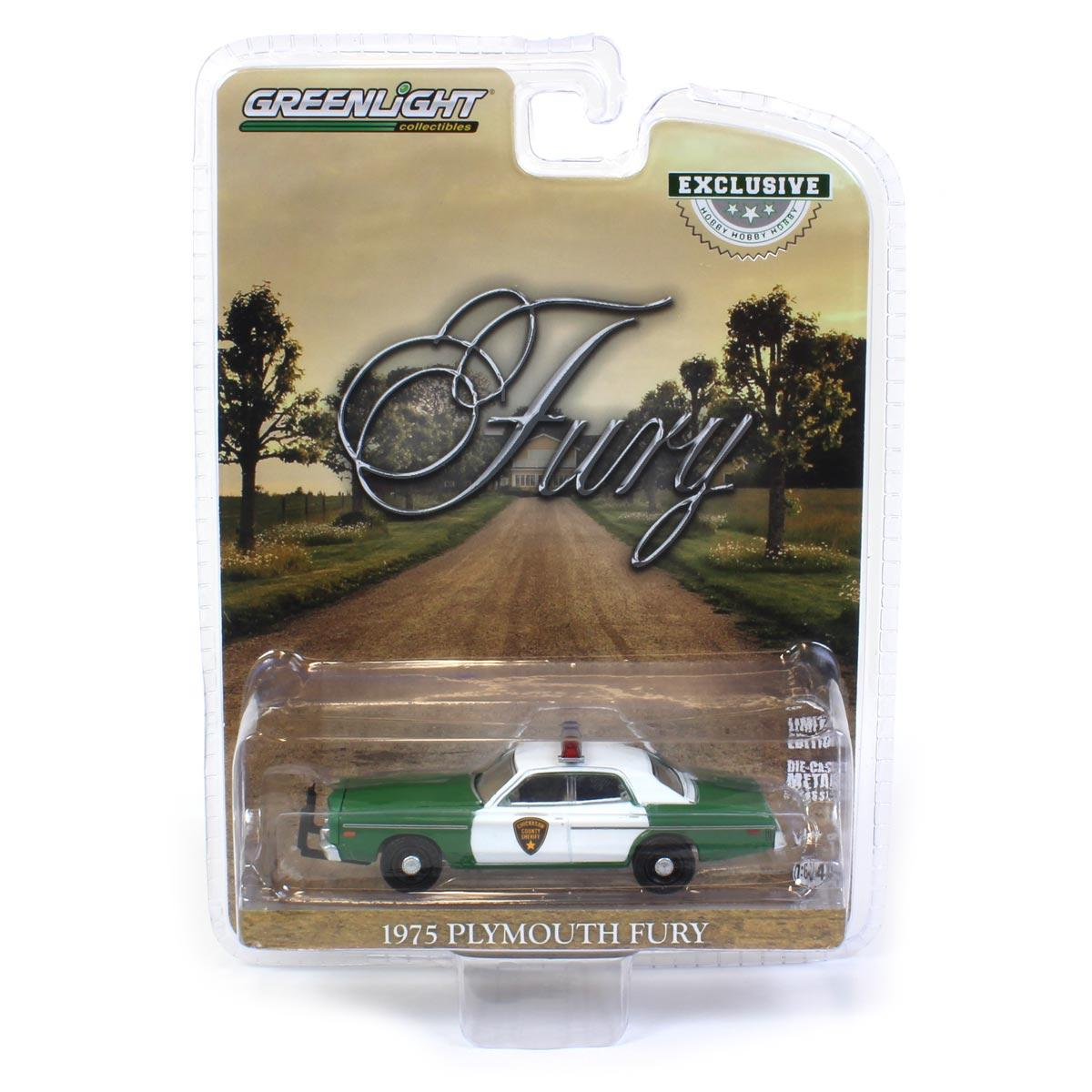 GREENLIGHT 1975 PLYMOUTH FURY CHICKASAW COUNTY SHERIFF HOBBY EXCLUSIVE 30141 NEU