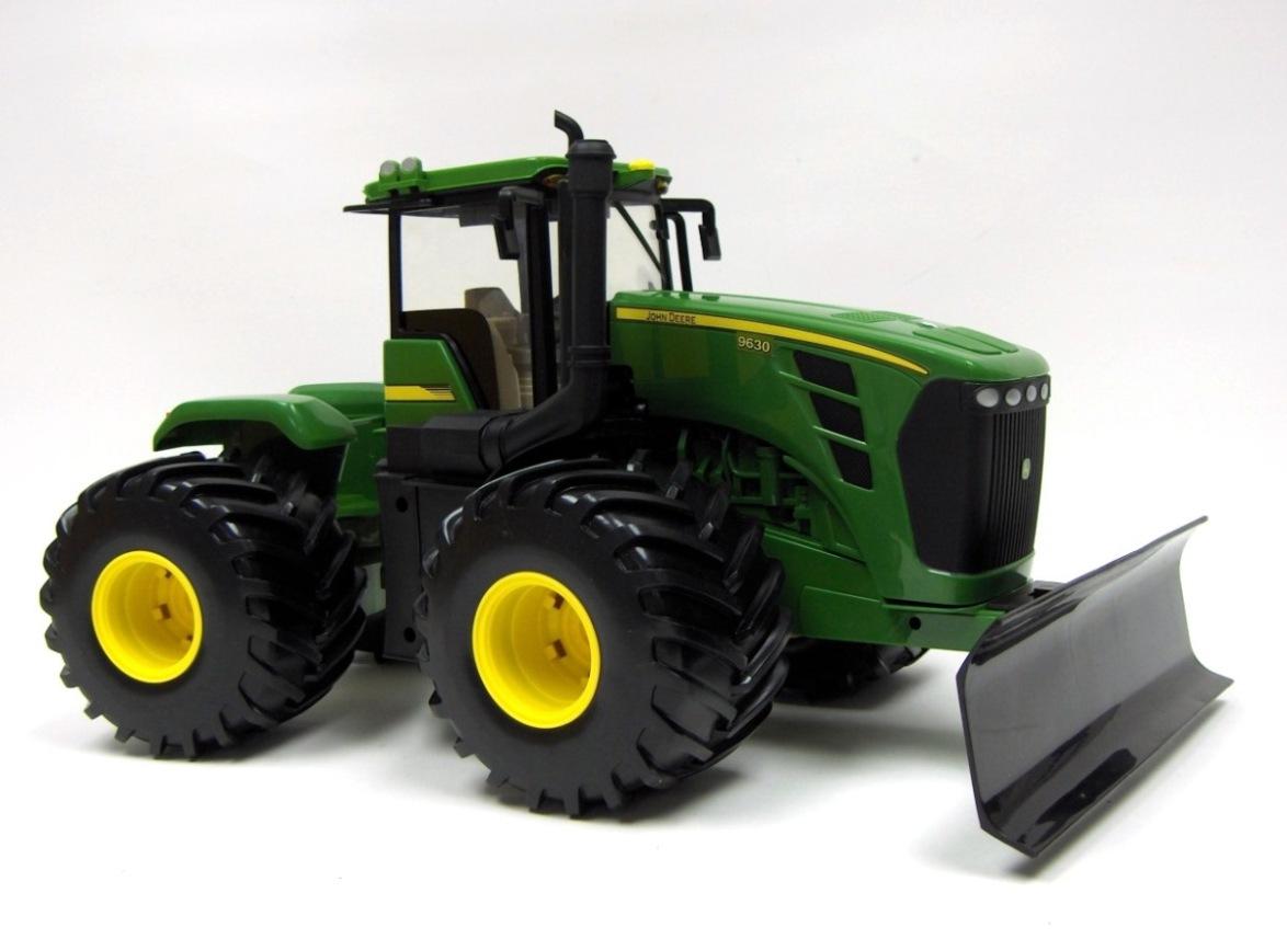 Large John Deere Farm Tractors : John deere big farm tractor w blade lights
